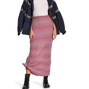 "Free People ""Drag Me Out"" knit Maxi Skirt"
